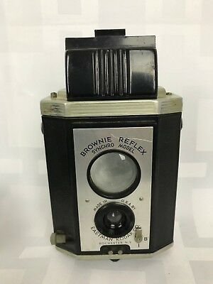 Vtg Brownie Reflex Synchro Model Made USA Eastman Kodak Co Rochester, NY Camera