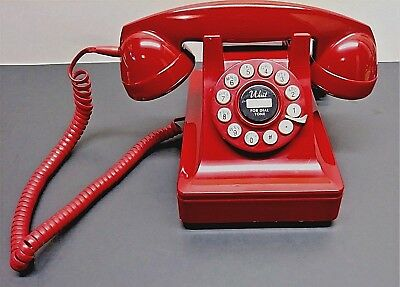 Vintage Crosley Red Telephone Desk Phone Touch Tone Dial Model #302   Works
