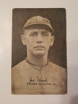 1920 Exhibit Joe Wood Pitcher Boston Red Sox/ Cleveland VERY RARE
