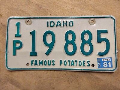 1981 idaho license plate from Payette county