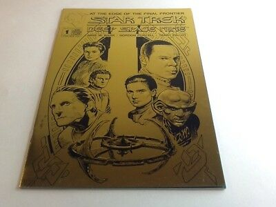 "STAR TREK DEEP SPACE NINE  #1: Gold Edition"". May 1993, Malibu Comics."