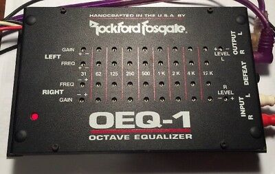 OLD ROCKFORD Fosgate OEQ-1, 9 Band Equalizer. Rare Vintage ...