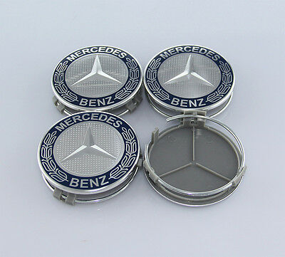 4Pcs 75mm Car Sticker Wheel Center Hub Cap Cover Logo Fit for Mercedes Benz