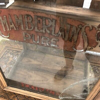 antique general store display case Medical Cough Syrup Chamberlain Pure Extract
