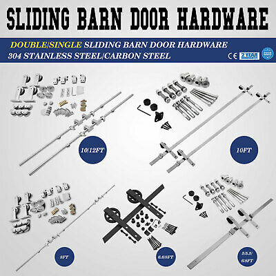 1.52/2.4/3/3.6M Rustic Country Antique Classic Sliding Barn Door Hardware Track