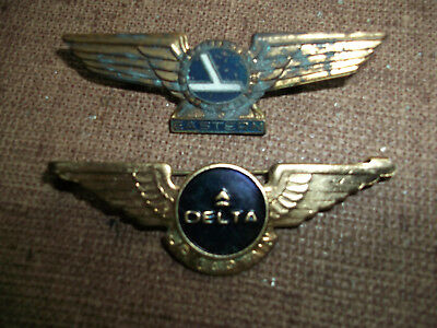 Collectible Airline Captains Wing Pins - Delta And Eastern Airlines