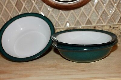 Denby Greenwich Rimmed Soup / Cereal Bowls (3)