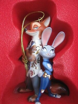 Lenox Zootopia Lt Judy Hopps & Nick Wilde Christmas Tree Ornament NEW $60