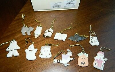 Lenox Halloween Trick or Treat Ornament Tree Set of Ornaments Witch Pumpkin NEW