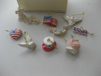 Lenox 4th Fourth of July Independence Day Set Christmas Ornament Ornaments Tree
