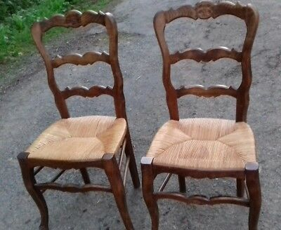 Lovely Pair Of French Antique Early 20Thc Occasional/dining/bedroom Chairs