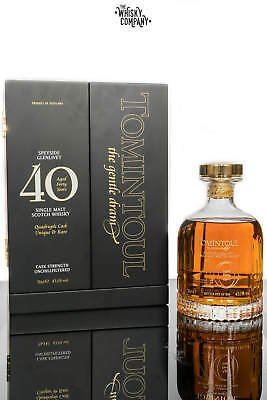 Tomintoul 40 Years Old Quadruple Cask Speyside Single Malt Scotch Whisky (700ml)