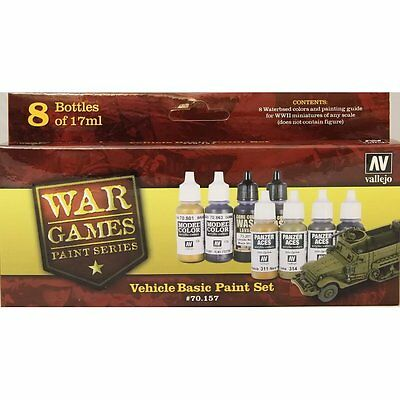 Vallejo Color - Vehicle Basic Paint Set
