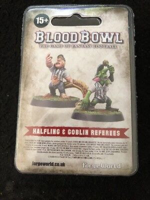 2016 Bloodbowl Halfling & Goblin Referee Ref Forge World RARE OOP LIMITED GW