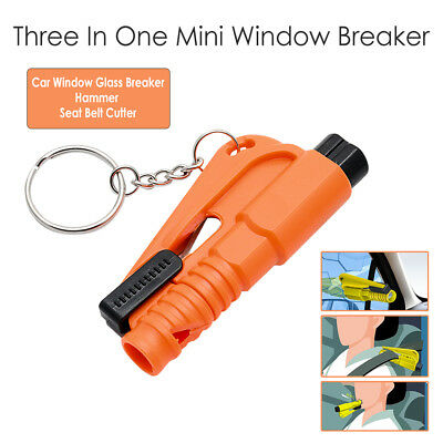 Orange Emergency Safety Escape Hammer Car Window Glass Gear Breaker Belt Cutter