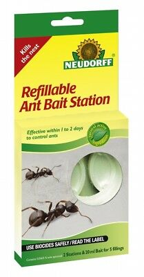 Neudorff - Refillable Ant Bait Station - Pack of 2