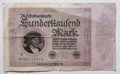 100000 ReichsMark 1923 GERMANY N·00134615 (028)