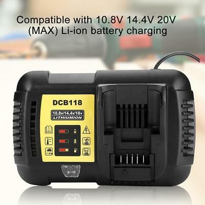 EU 20V Max Lithium Battery Charger 10.8V 14.4V 20V for Dewault DCB118 Power Tool
