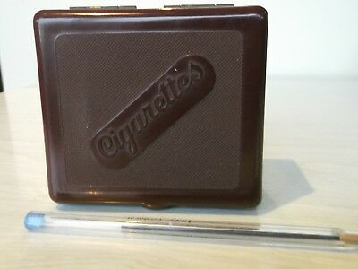 COLLECTABLE BAKELITE HINGED CIGARETTE BOX made by Duperite Australia