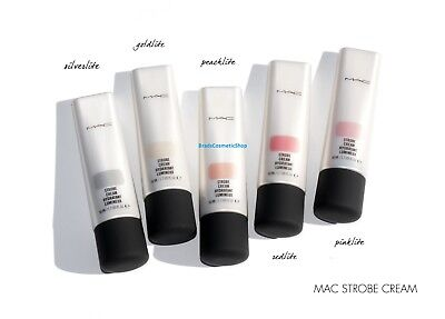MAC Strobe Cream 50ml - Pinklite, Peachlite, Silverlite, Goldlite .SEALED-SALE.