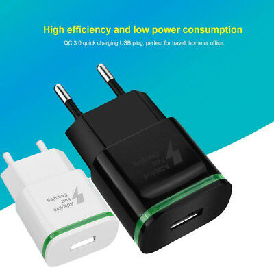 Universal Travel QC3.0 Quick Charge LED Wall Charging USB Phone Power Adapter