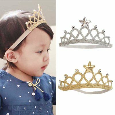 Baby Girl Kids Toddler Princess Crown Headband Hairband Hair Band Headwear US