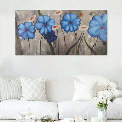 Canvas Abstract  Flowers Hand Painted Oil Painting Home Decor Art Frame