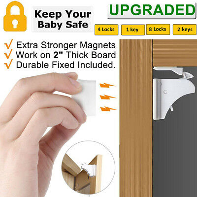Invisible Safety Baby Magnetic Cupboard Drawers Lock Door Child Baby Pet Proof
