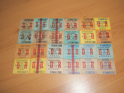 Victorian Railway Tickets Various Country Discount Returns  x 12 Mint.