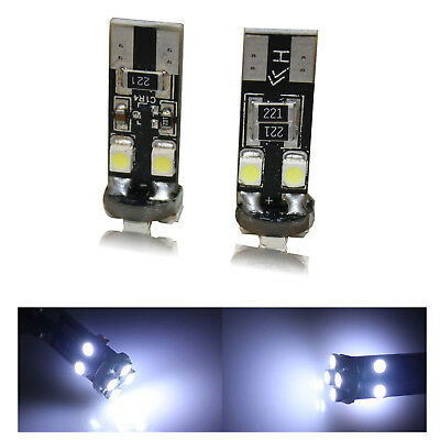 2 x Car Side Light Bulbs Error Free Canbus 8 Smd Led Xenon Hid White T10 501 W5w