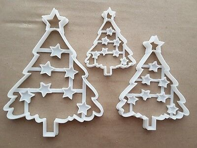 Christmas Tree Star Xmas Shape Cookie Cutter Dough Biscuit Pastry Fondant Sharp
