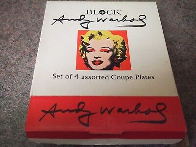 Marilyn Monroe Andy Warhol Coupe Plates