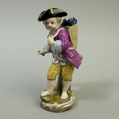 ANTIQU MEISSEN 1st QUALITY PORCELAIN GRAPE PICKER FIGURE C.19th CENTURY