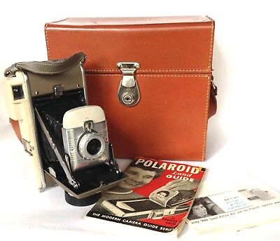 Vintage Polaroid Land Model 80A Camera OUTFIT - Made in USA - MINT Condition