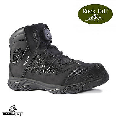 Rock Fall Ohm RF160 SB SRC EH Black Electrical Hazard Boa Lace Safety Boots PPE