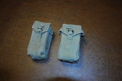 Israeli Defense Force IDF 1970's Dated 308 double magazine pouch lot of 2 Galil