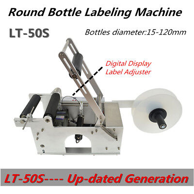 LT-50S semi-Auto Round Bottle Labeling Machine 120W adjustable 110V 50HZ NEWEST