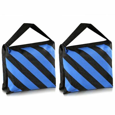Set of Two Black/Blue Heavy Duty Sand Bag Photography Studio Video Stage Fi E9M1