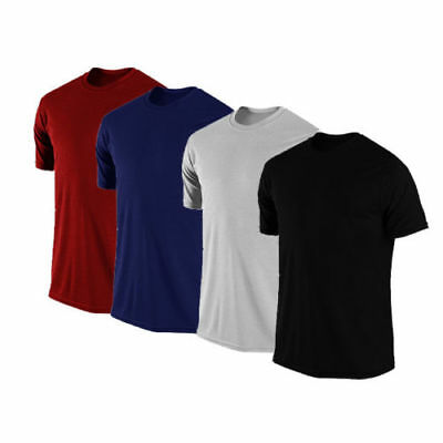 New T Shirts Pack of 4 Boys Mens Round Neck 100% Combed Cotton Short Sleeve Sale