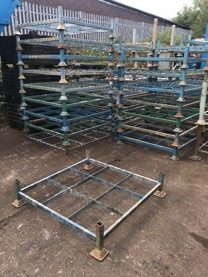 70 X Steel Pallet Stackable Post Cage Stillage Open Box