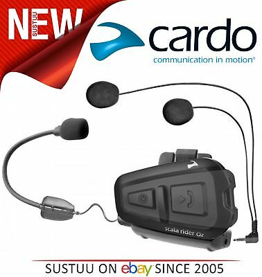 Cardo Scala Rider QZ Bike Helmet Headset Wireless Bluetooth GPS MP3 Waterproof