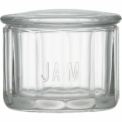 """""""Jam"""" Jar with Glass Cover - Crate & Barrel Glass - 543-411"""