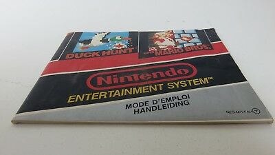 Super Mario Bros / Duck Hunt - NES manual only