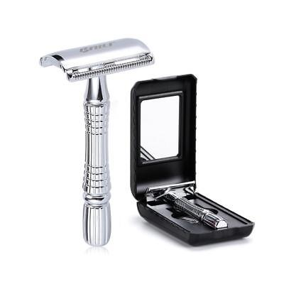 Traditional Classic BAILI Men Manual Shaver Safety Razor Vintage Double-sided