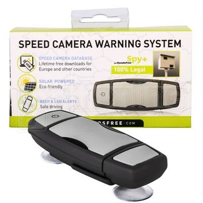 Mr HandsFree Spy+ Car Solar Powered GPS Speed Camera Detector Warning System