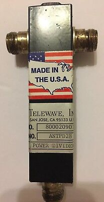4 Telewave 760-920 MHz Power Dividers Two Way Split ANTPD28 4-count