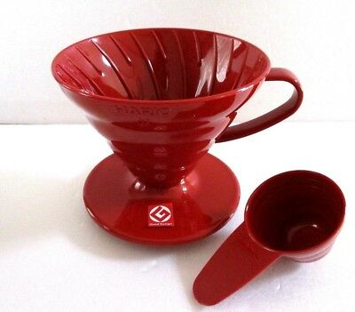 HARIO V60 Coffee DRIPPER with Spoon 1-2 cups VD-01R Red From JAPAN