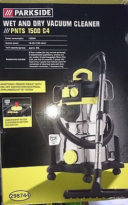 PARKSIDE WET AND Dry Vacuum Cleaner Pnts 1500 C4 FOR SALE