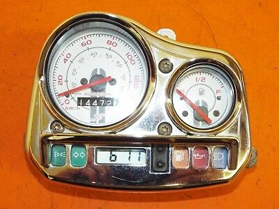 Piaggio Vespa 125s Zafferano 2009 Clock Set  Instruments