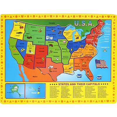 Real Wood Toys - States and Capitals Wooden Puzzle